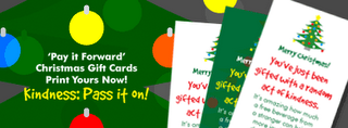 Free Pass-along Kindness gift cards (I love these!)