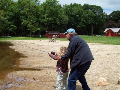 Outdoor Wednesday – Maya and Grampy Go Fishing