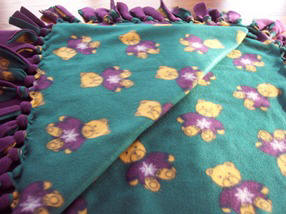 No Sew Fleece blanket instructions