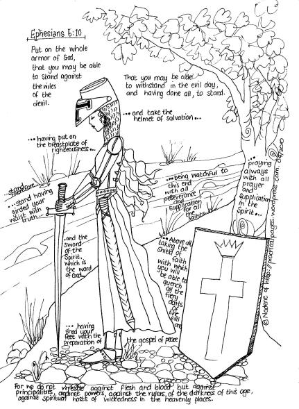 A is for the Armor of God Summer Bible Activity (especially for girls!)