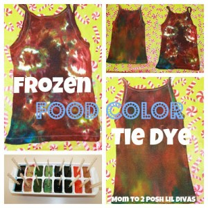 Frozen Food Color Tie Dye Shirt Final