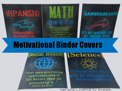 Motivational Binder Covers