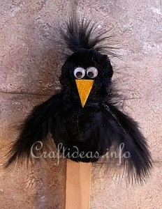 Chenille_Crow_Plant_Stick_or_Bookmarker