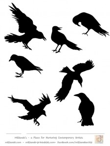 crow-silhouettes-template-set-1