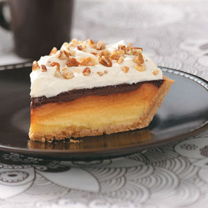 ribbon butterscotch pudding pie