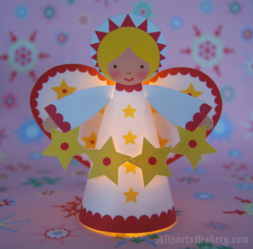 paper angel crafts grandmother wren