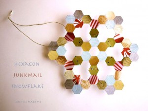 Hexagon Junkmail Snowflake Michele Made Me