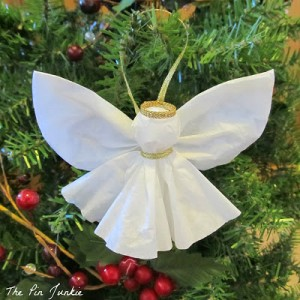paper angel christmas ornament