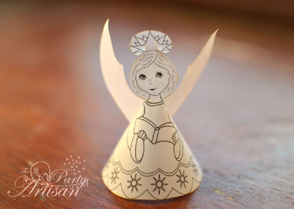 pretty paper angels to make free grandmother wren