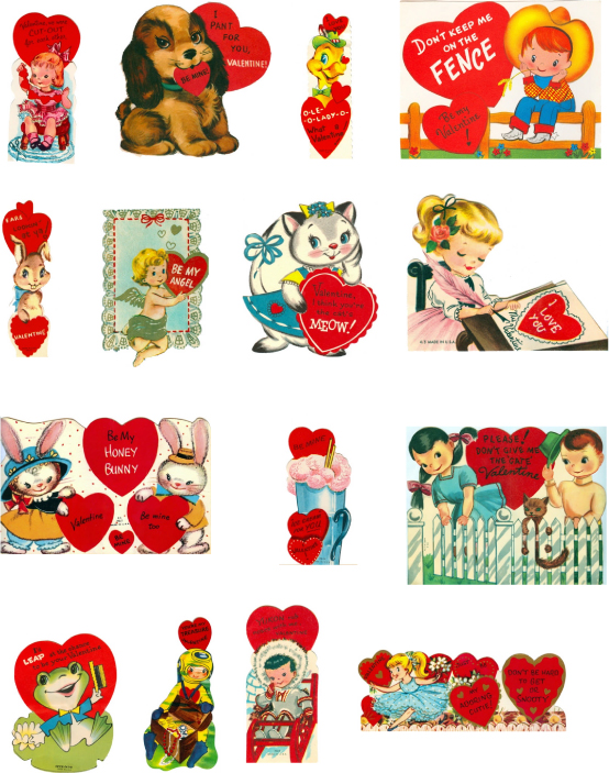 It's just an image of Crafty Free Printable Vintage Valentine Cards