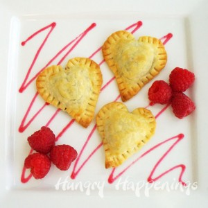 Valentine's Day heart shaped dessert, Pillsbury Pie crust, Dove chocolates, pastry