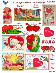 collage sheet_vintage valentines