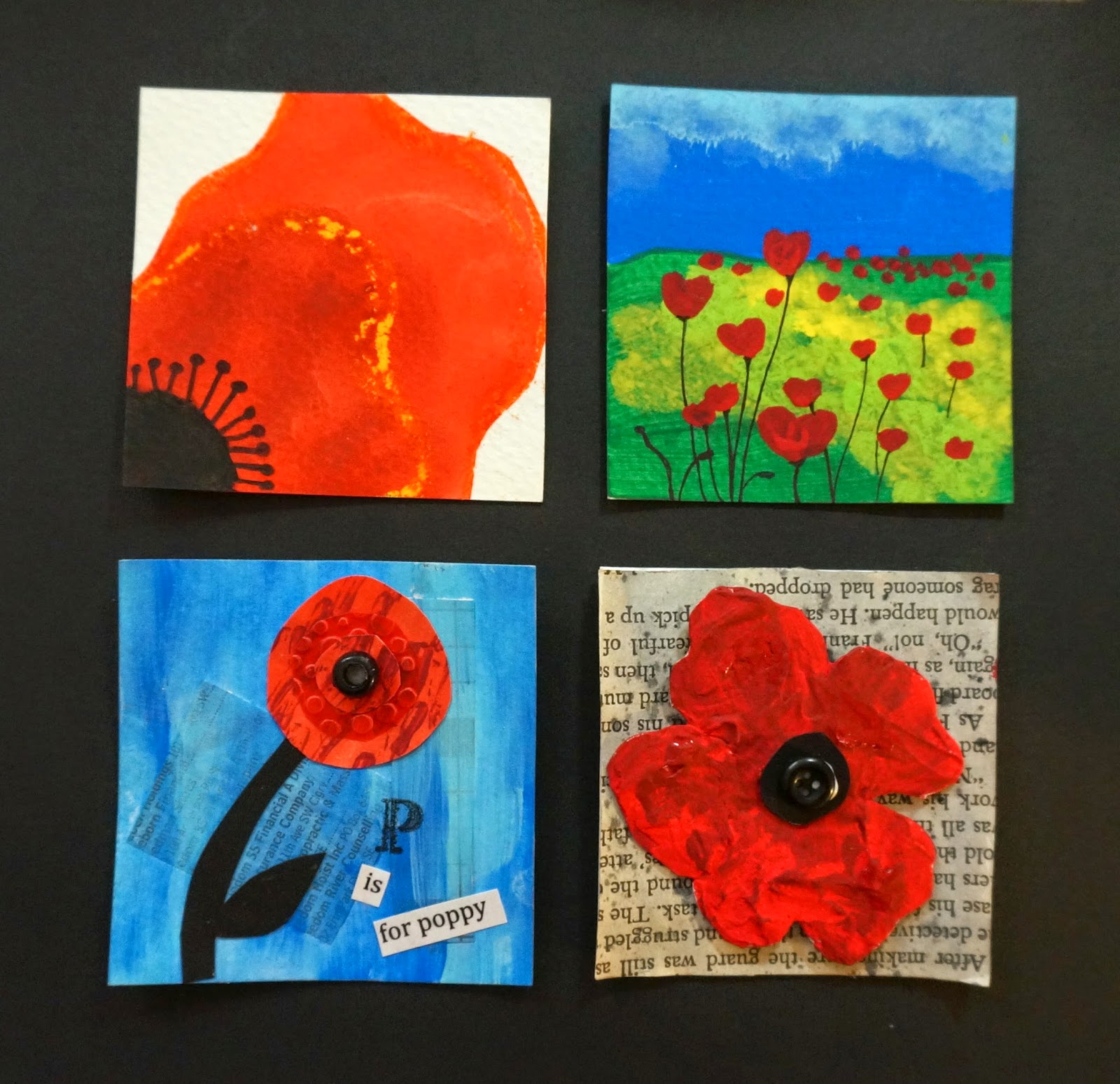 Poppy crafts for memorial day the thursday 13 - Remembrance day craft ideas ...