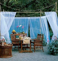 Create an Outdoor Room – in a Tent