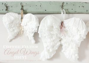 Coffee Filter Angel Wings DIY Tutorial