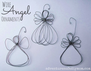 DIY Wire Angel Ornaments