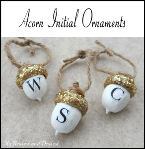 DIY-personalised-acorn-Christmas-ornaments.-My-Nearest-and-Dearest-blog.