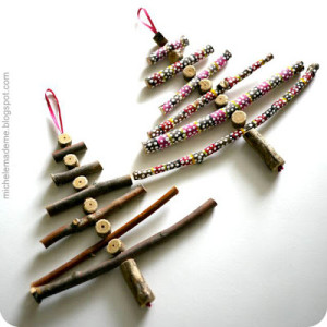 Wooden Stick Christmas Trees