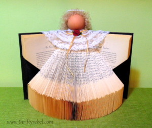 how-to-make-a-book-angel-christmas-decorations-crafts-how-to